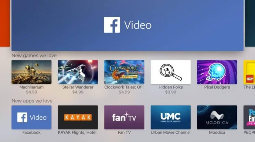 Facebook Video app on Apple TV