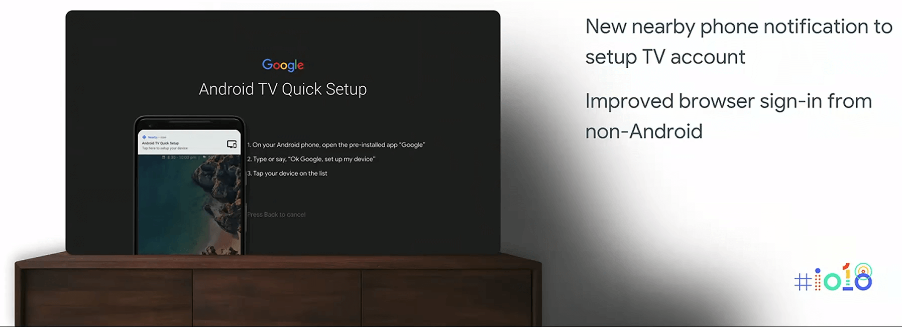 Android TV setup process in Android P
